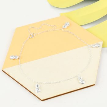 Sterling Silver Pineapple Anklet