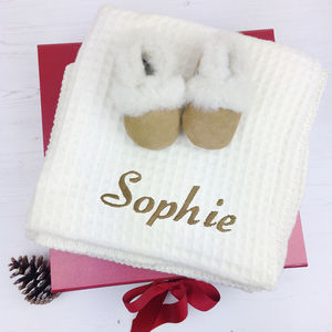 Sheepskin Slippers And Lambswool Christmas Eve Box - black friday sale