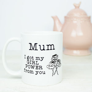 Mum Girl Power Gift Mug - dining room