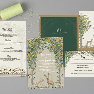 Majestic Woodland Wedding Invitation Set - wedding stationery