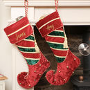 Personalised Velvet Jingle Bell Christmas Stocking