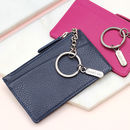 Leather Purse With Personalised Silver Charm Keyring