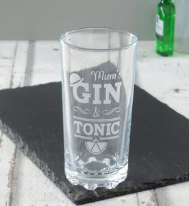 Gin And Tonic Personalised High Ball Glass - winter sale