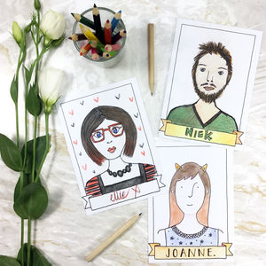 Wedding Guestbook Portrait Postcards - advice cards & table games
