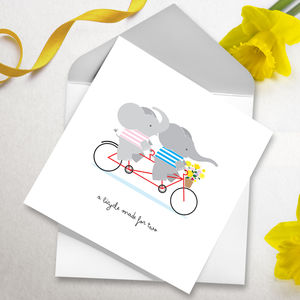 Bicycle Made For Two Greetings Card - original valentine's cards