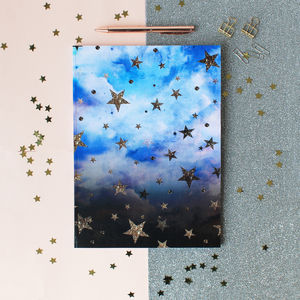 A4 Cloudy Stars Notebook