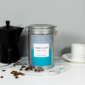 'Thanks A Latte' Gift Tin - teas, coffees & infusions