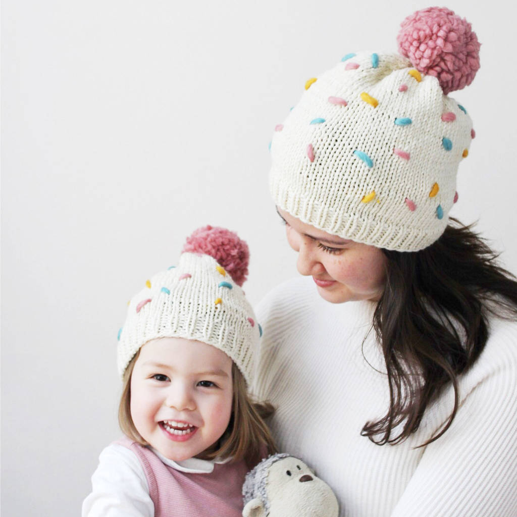 make your own sprinkles hat twinning knitting kit by stitch & story ...