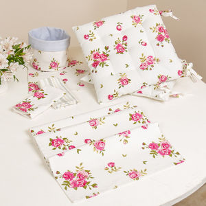 Helmsley Blush Alfresco Cotton Table Linen Collection - dining room