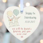 Personalised Wedding Gifts Ceramic Heart - christening