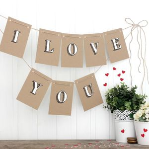 I Love You Bunting, Enagement Party, Wedding Decoration