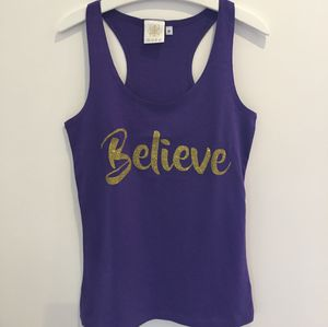'Believe' Vest Purple - women's fashion