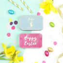 Personalised Foiled Easter Chocolate Gift Tin