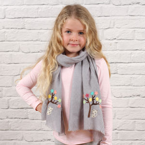 Personalised Child's Tree Motif Scarf - children's scarves