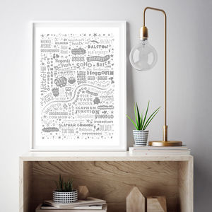 'I Love You London' Map Art Print