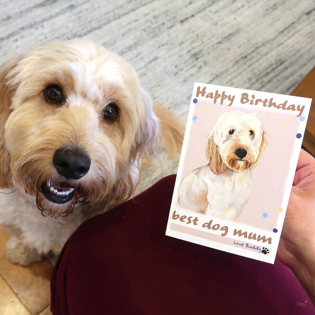 Personalised Buddy Dog Birthday Card