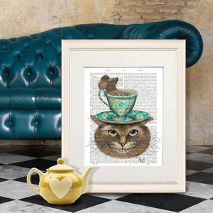 Cheshire Cat, Alice In Wonderland Print