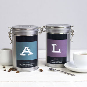 Personalised Initial Coffee Gift Tin