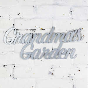 Grandma's Garden Metal Sign - gifts for her