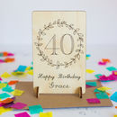 Personalised 40th Birthday Wooden Card