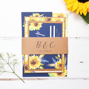 Sunflower Wedding Invite Sample Pack - invitations