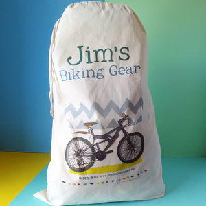 Personalised Mountain Biking Storage Sack - new in home