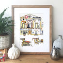 Bath, England Hand Drawn Illustration Print