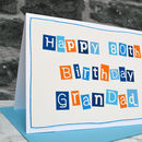 Large A5 mens 80th birthday card for a special Dad, Grandad, Grandpa etc