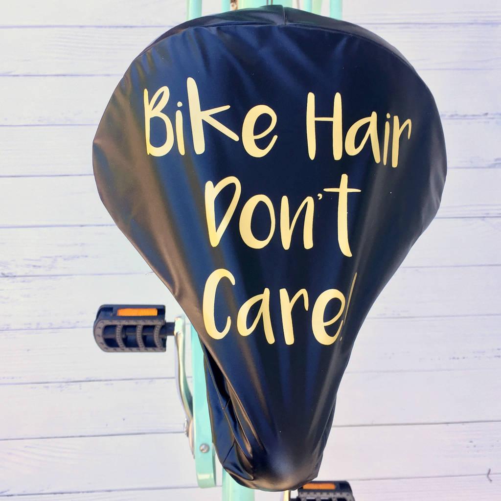 'Bike Hair' Women's Gold Print Bike Seat Rain Cover