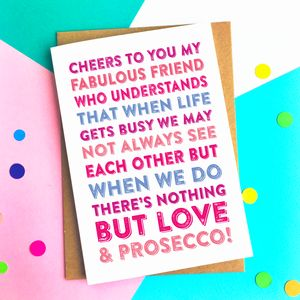Cheers To You My Friend Celebration Card - summer sale