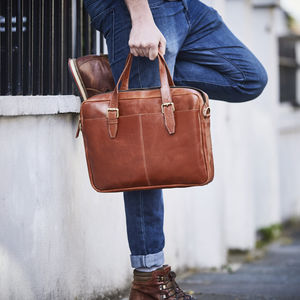 Leather Laptop Briefcase Bag - graduation gifts