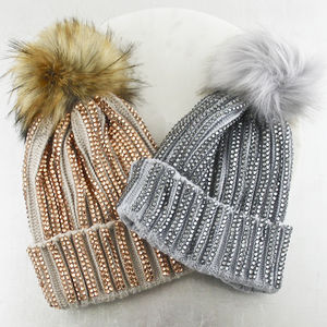 Crystal Sequin Bobble Hat - whats new