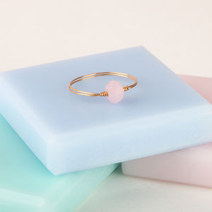 Skinny Gold Stackable Ring - rings