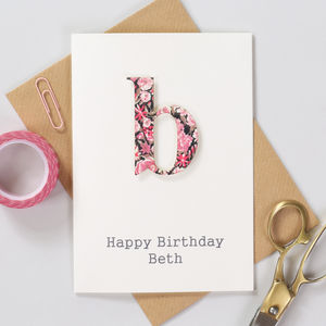 Personalised Liberty Letter Birthday Card - birthday cards