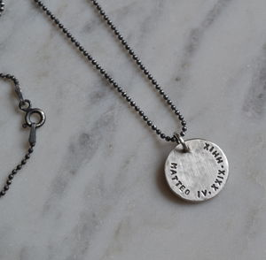 Mens Personalised Silver Necklace