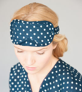 Ladies Eye Mask In Polka Dot Prints