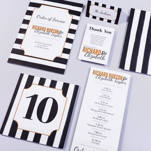 Table Plan, Numbers, Place Cards, Menus : Afternoon Tea
