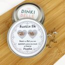 Personalised Family Knot Earrings In Gift Tin