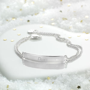 Childs Personalised My First Diamond Bracelet - children's accessories