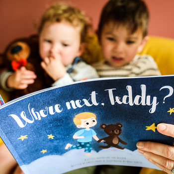 Personalised 'Where Next, Teddy?' Storybook With Bear