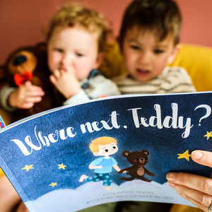 Personalised 'Where Next, Teddy?' Storybook With Bear - gifts for children