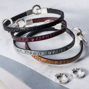 Personalised Mens Leather Bracelet - bracelets