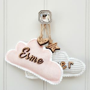 Naming Day Christening Cloud Decor Gift