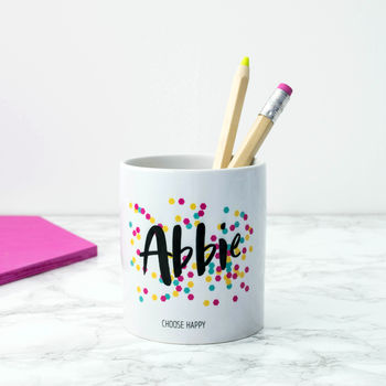 Personalised Happiness Pen Pot