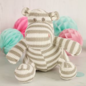 Knitted Baby Hippo - new baby gifts