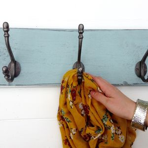 Reclaimed Wood Coat Hook Board