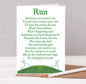Motivational Running Poem Card