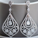 Vintage Style Crystal Chandelier Earrings