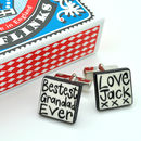 Personalised 'Grandad' Cufflinks