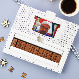 Personalised Chocolate Card In A Small Box - novelty chocolates